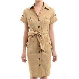 New Diane Von Furstenburg Safari Dress, size 10,